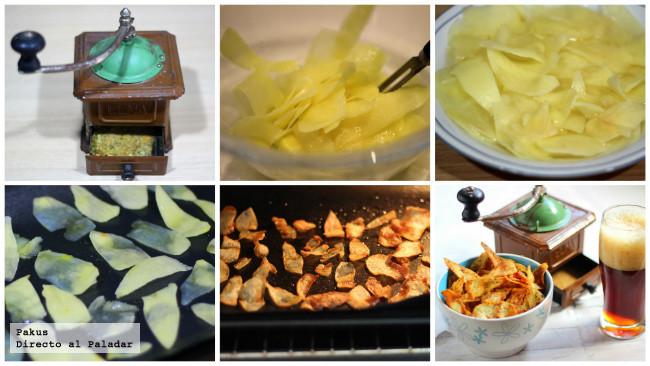 virutas patatas especias