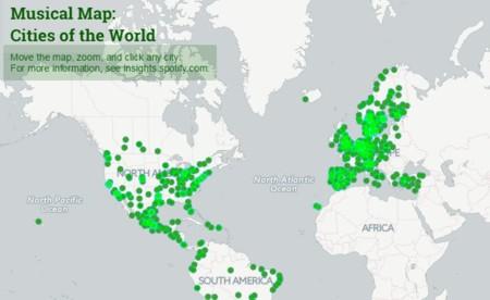 Conoce cuál es la música que más escuchan en tu ciudad con Spotify Musical Map