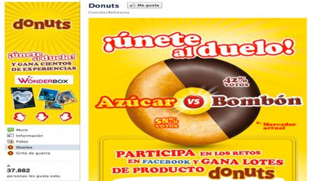 Pantallazo FanPage Donuts