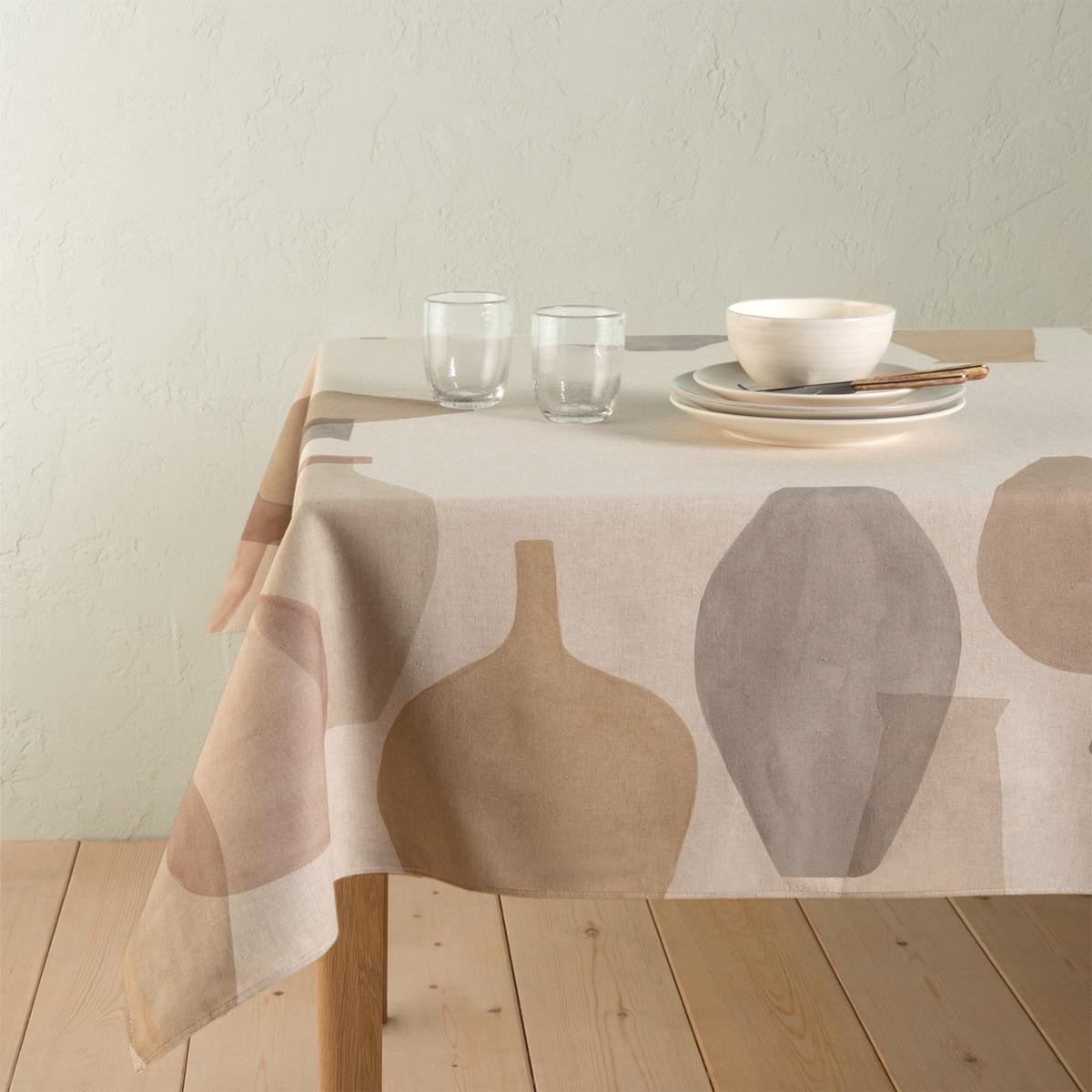 Mantel antimanchas resinado Vases 21 El Corte Inglés 150 x 200 cm