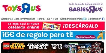 Obtenga 6 euros de descuento en Toys 'R' Us