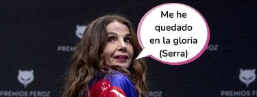 """Victoria Abril la lía con su discurso negacionista en la rueda de prensa de los Premios Feroz: """"Somos cobayas con vacunas sin probar"""""""