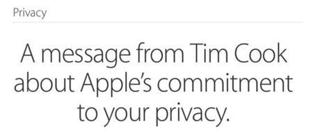 Privacidad. Carta de Tim Cook a todos los usuarios