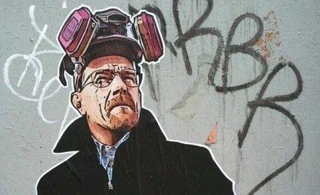 Arte urbano de 'Breaking Bad', la imagen de la semana