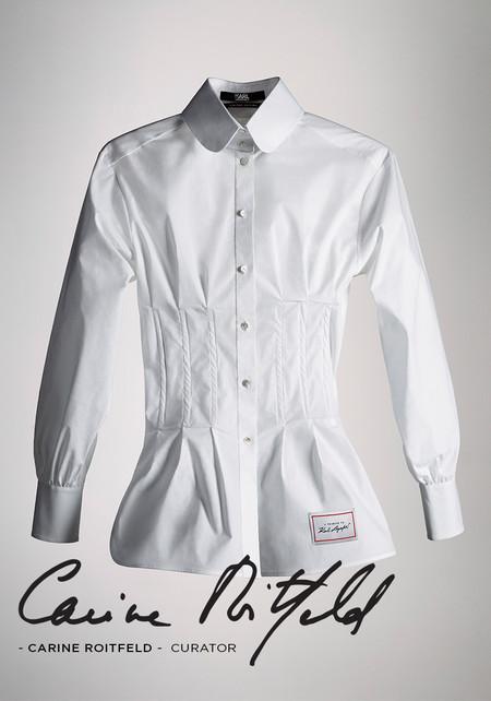 El primer vistazo a las camisas blancas diseñadas en tributo a Karl Lagerfeld ya nos hacen suspirar