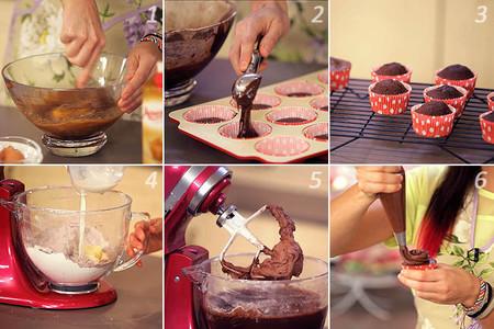 Receta de cupcakes de chocolate paso a paso