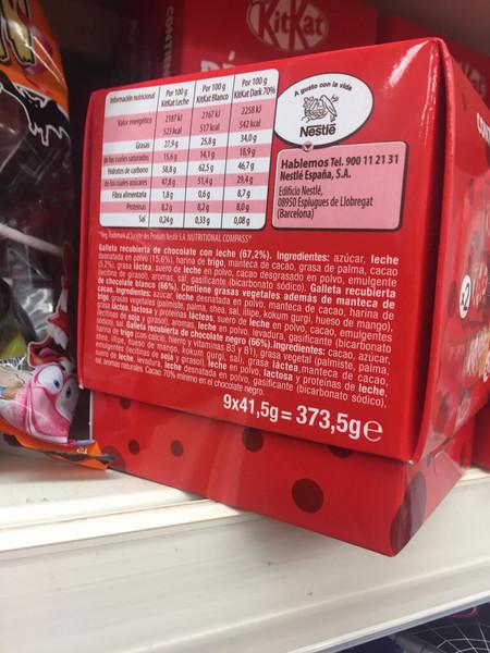 Kitkat Info Nutricional