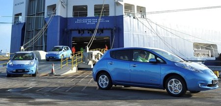 Nissan Leaf en el puerto de Sunderland