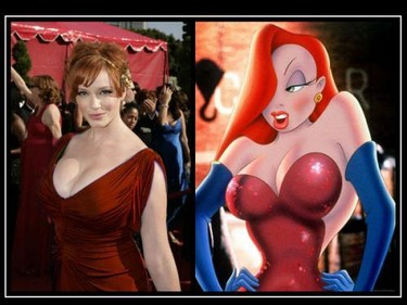 Separados al nacer: Christina Hendricks Vs. Jessica Rabbit