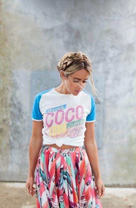 Cara Jourdan Co Camiseta De Chanel