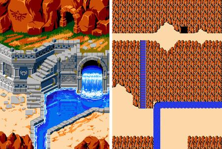 Hyrule Redrawn, las espectaculares imágenes pixel art que recrean el primer The Legend of Zelda con la paleta de colores de NES