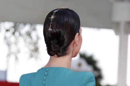accesorio para el pelo de noemi ruiz en el festival de malaga