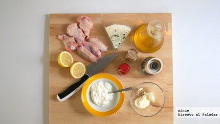 Alitas de pollo con queso azul - ingredientes
