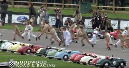 Lo más singular del Goodwood Revival 2018: una carrera para niños... ¡con coches a pedales!
