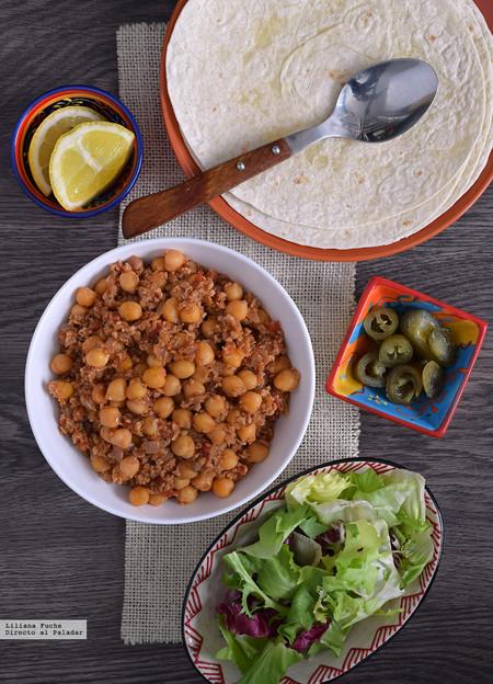 Tacos veganos de garbanzos y soja. La receta que convencerá a todos en casa