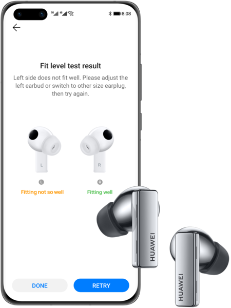 Huawei Freebuds Pro Fit Detection 2x
