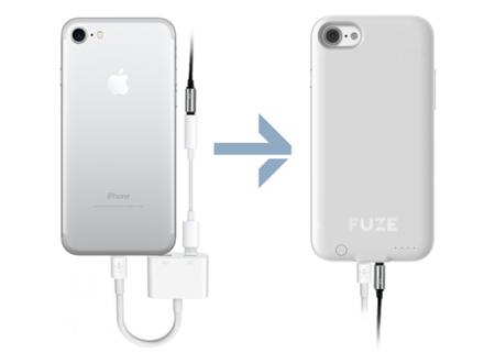 Fuze, la carcasa para el iPhone 7 que traerá de vuelta el puerto para audífonos