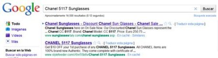 Búsqueda en Google - Channel Sunglasses