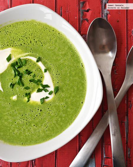Sopa de edamames y espinacas. Receta