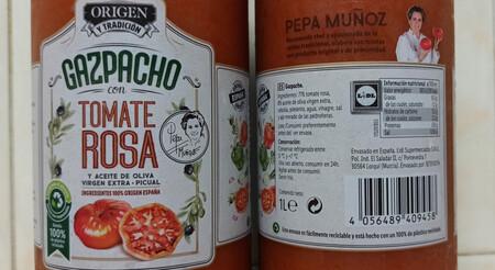 El Gazpacho De Tomate Rosa No Lleva Ningun Tipo De Aditivo Conservante O Espesante Exigiendo Conservacion En Frio Y Consumo En 24 Horas Despues De Abierto
