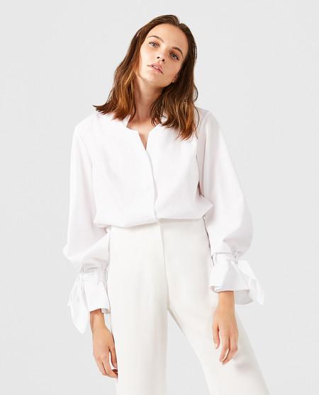 Camisa Blanca Detalle Puno