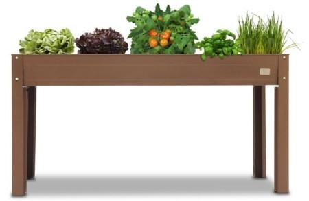 Mesa de terraza para el cultivo de huerto urbano
