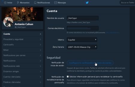 Twitter Cambiar Contrasena Verificacion Dos Pasos