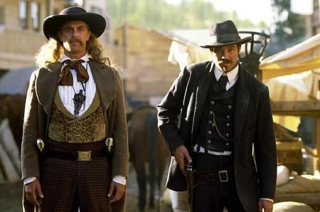 Deadwood, Keith Carradine y Timothy Olyphant.