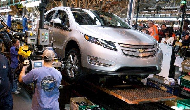 fabricación Chevrolet Volt cadena de montaje