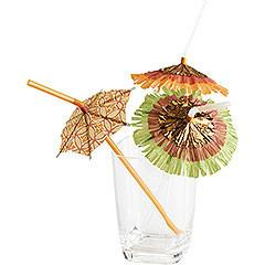 Pajitas de refresco con sombrilla incluída