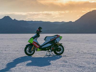 Malossi se carga dos récords de velocidad en Bonneville, ¡con una scooter de 50 cc!