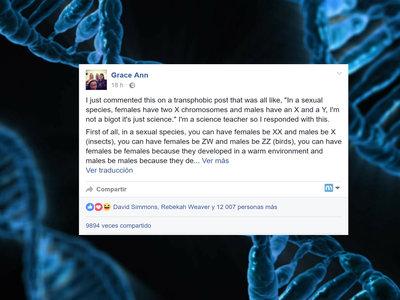 La genial respuesta de una profesora contra los argumentos cientifistas que apoyan la transfobia