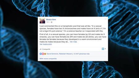 0db68ea4ba La genial respuesta de una profesora contra los argumentos cientifistas que  apoyan la transfobia