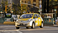 El Nissan Leaf empieza a currar como taxi en Nueva York