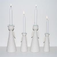 Candeleros con forma de ángeles para decorar tu Navidad