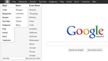 Ordena la barra de Google a tu gusto en Chrome con +You Gbar