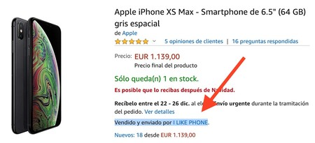 Iphone Amazon Vendedor Tercero