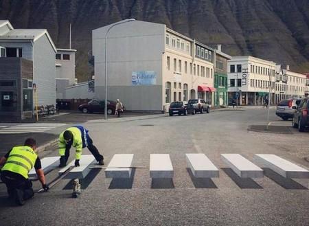 Pasos de peatones 3D Islandia