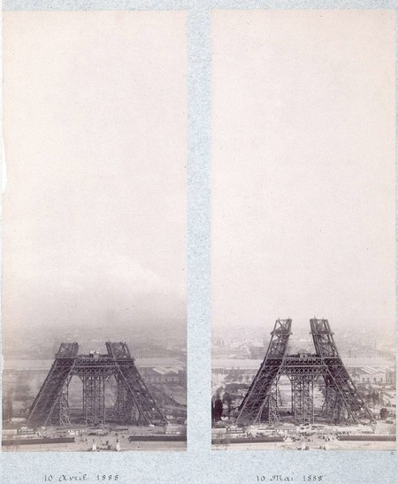 Public Domain Images Eiffel Tower Construction 1800s 0002
