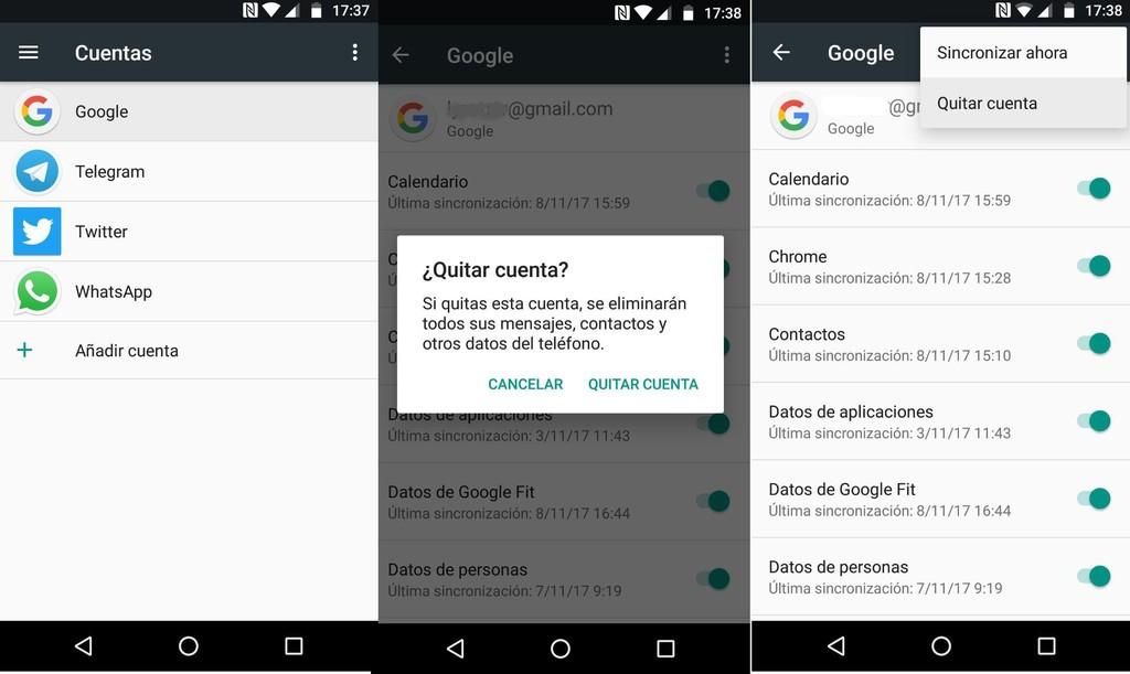 Eliminar Cuenta Google® Error Play