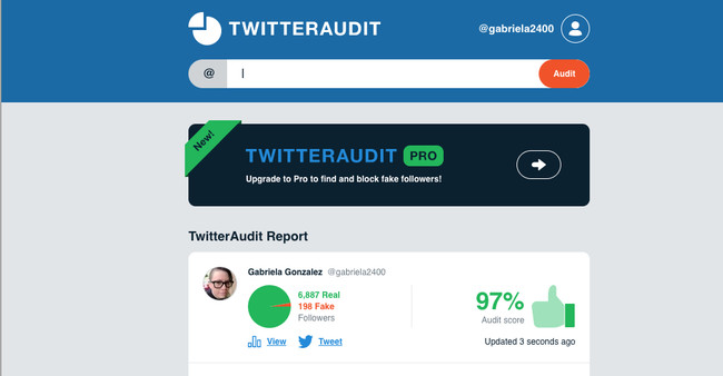 Gabriela2400 S Audit Twitter Audit Audit Your Twitter Followers 2018 02 13 18 43 47