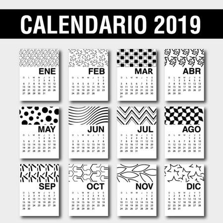 Calendario 2019 Diseno Espanol