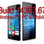 Microsoft libera la Build 14393.67 para Windows 10 PC y Windows 10 Mobile