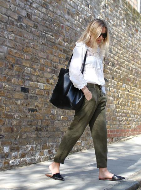 street style tendencia pantalones cargo militar