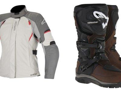 Botas Alpinestars Corozan para ellos y chaquetas Ares de aventura para ellas, lo mejor para el invierno