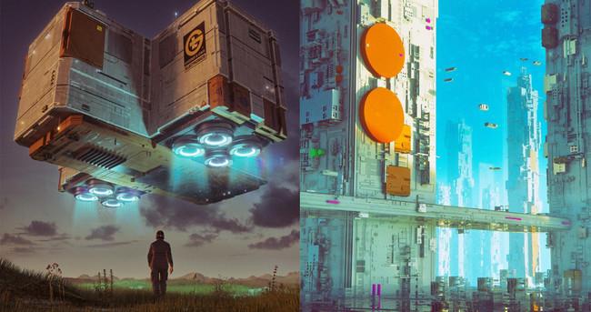 Un tipo se ha pasado diez años dibujando universos de ciencia ficción sin fallar ni un solo día