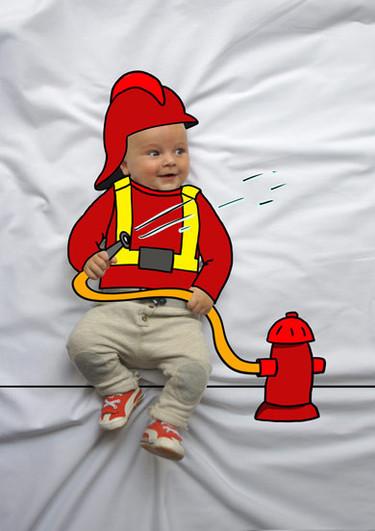 De mayor quiero ser... Sesiones de fotos de bebés de lo más originales