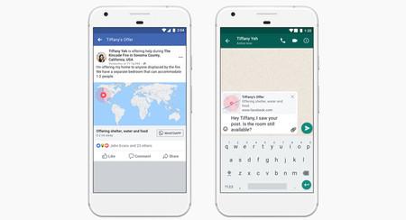 'Respuesta ante emergencias' de Facebook ahora se integra con WhatsApp