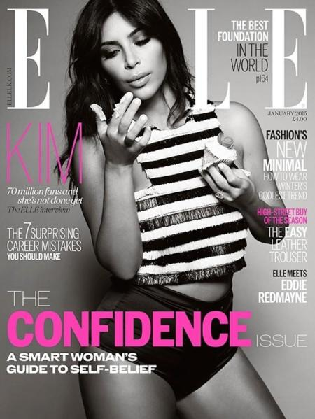 Kim Kardashian Elle Uk January 2015 3