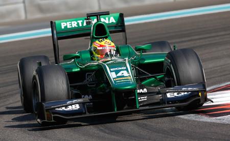 Rio Haryanto sorprende con el mejor registro del segundo día de la GP2 en Abu Dabi